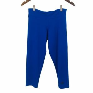ADIDAS Blue Cropped Athletic Leggings Sports Small
